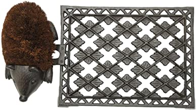 "Sungmor Heavy Duty Cast Iron Doormat Boot Bush,22.5"" x 12"" Rectangle with Vintage & Rustic Pattern and Lovely Hedgehog Des..."