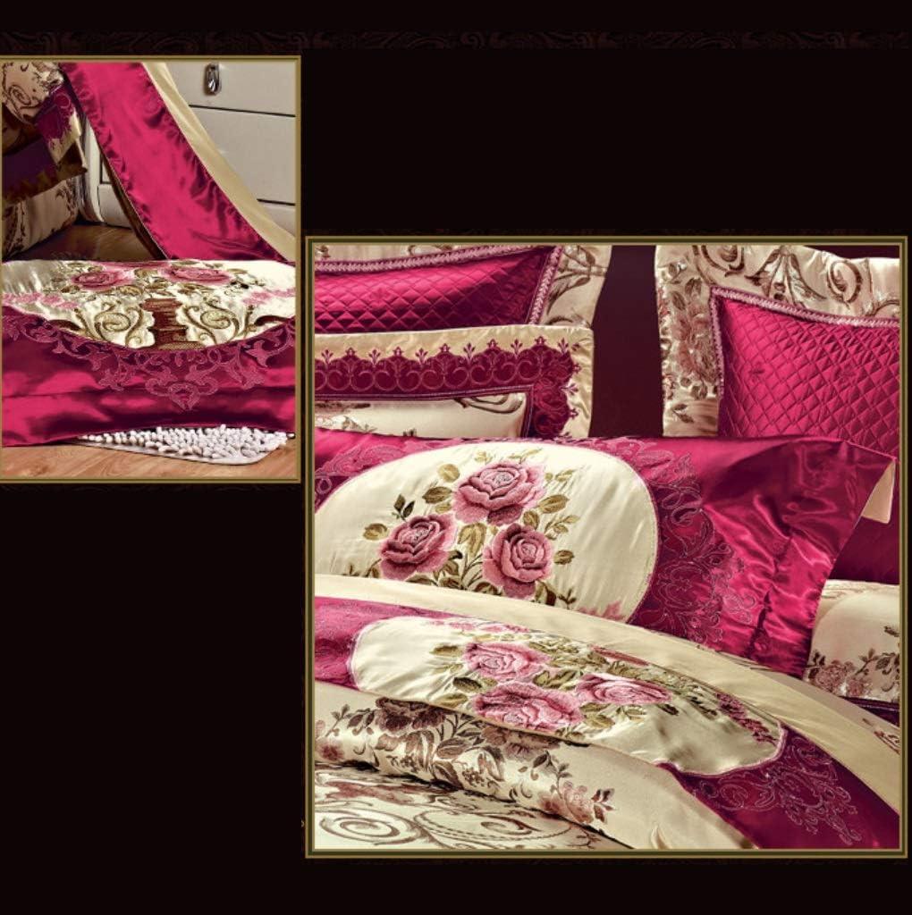 KE & LE Ultra Doux Microfibre Chambre édredons, 10 pièces Parures de lit Rides Fade résistant Feuilles Taies d'oreillers Lavable en Machine-A Queen1 A