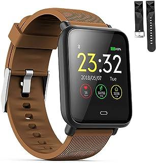 LTLJX Smartwatch Orologio Fitness Uomo Donna Impermeabile 1.3'' Bluetooth Cardiofrequenzimetro da Polso Contapassi Activit...