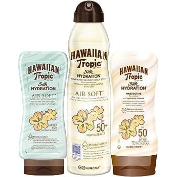 Hawaiian Tropic - Silk Pack - Crema Solar en Loción Silk Hydration SPF 30 200ml + Spray Solar en Bruma Silk Hydration Air Soft SPF 30 180ml + After Sun Silk Hydration