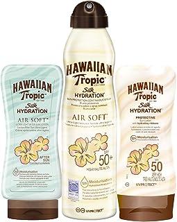 Hawaiian Tropic - Silk Pack - Crema Solar en Loción Silk Hydration SPF 50 200ml + Spray Solar en Bruma Silk Hydration Air Soft SPF 50 180ml + After Sun Silk Hydration Air Soft 200ml