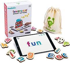 Marbotic - Lowercase Smart Letters pour iPad - De 3 à 5 Ans - Set de Lettres Interactives en Bois - Jeux Éducatifs Manuels...