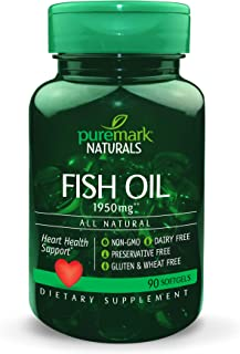 Puremark Fish Oil Softgels, 1950 mg, 90 Count