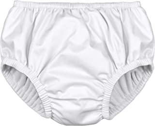 i play. Kids' Pull-up Reusable Absorbent Swim Diaper, White, 18mo