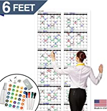 Large Dry Erase Wall Calendar - Premium Giant Reusable Yearly Calendar - Oversized Whiteboard Annual 12 Month UNDATED Planner 2020-72x36