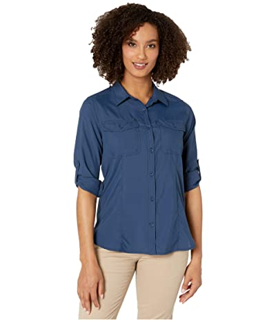 Royal Robbins Expedition Dry Long Sleeve (Deep Blue) Women