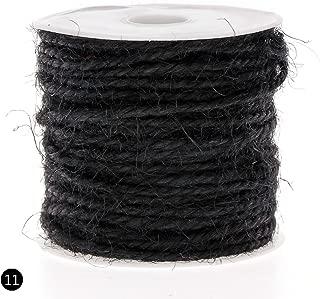 RUNGAO 10M DIY Color Hemp Rope 2mm Natural Craft Jute Rope Cord Thick String Black