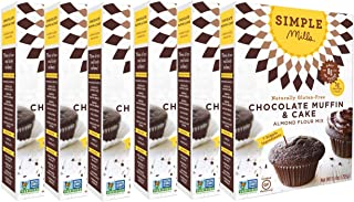 Simple Mills Almond Flour Mix, Chocolate Muffin & Cake, 10.4 Ounce (Pack of 6)