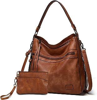 Gladdon Handtaschen Damen Leder umhängetasche Shopper Mode Hobo Taschen grosse Kapazität Schultertasche Designer Mehrfacht...