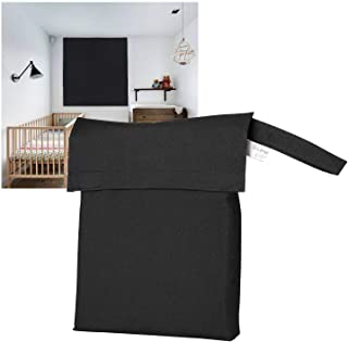Travle Blackout Shades Blind, LIFEI Baby Portable Blackout Window Curtains with Upgrade Suction Cups, Light Blocking Windo...