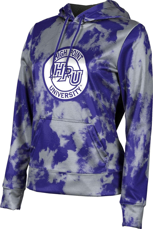 High Point University Girls' Pullover Hoodie, School Spirit Sweatshirt (Grunge)