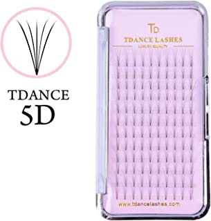 Eyelash Extensions,Superior Lash Extensions Russion Volume Fans 5D Eyelashes Extension Perfect Use C Curl 0.10 Thickness Short Steam 8-15mm Mixed Length by TDANCE(C-5D-0.10,8-15mm)