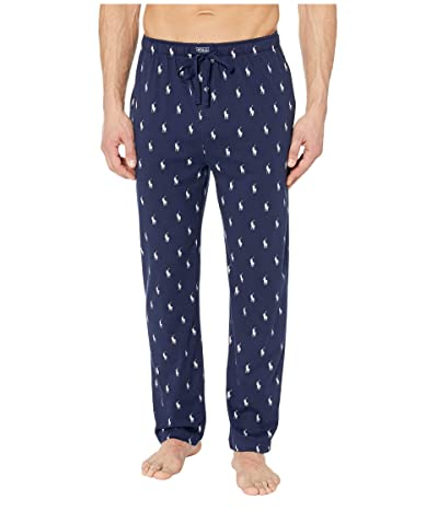 Polo Ralph Lauren Knit Jersey Covered Waistband PJ Pants (Cruise Navy/Nevis All Over Pony Player) Men