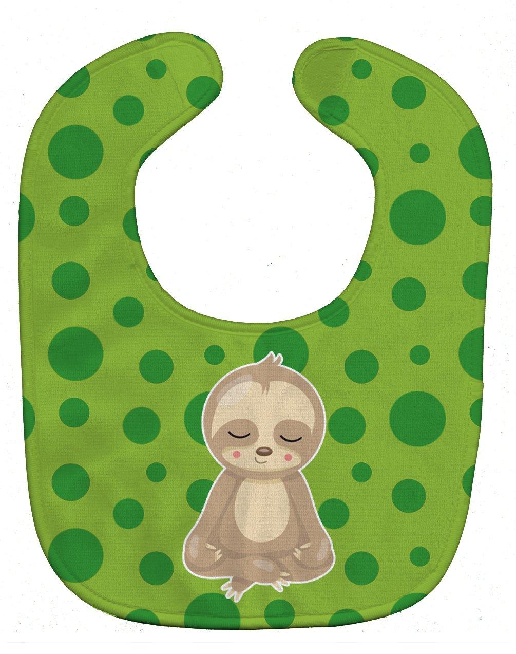 Caroline's Treasures BB9034BIB Sloth Yoga Baby Bib, 10 x 13