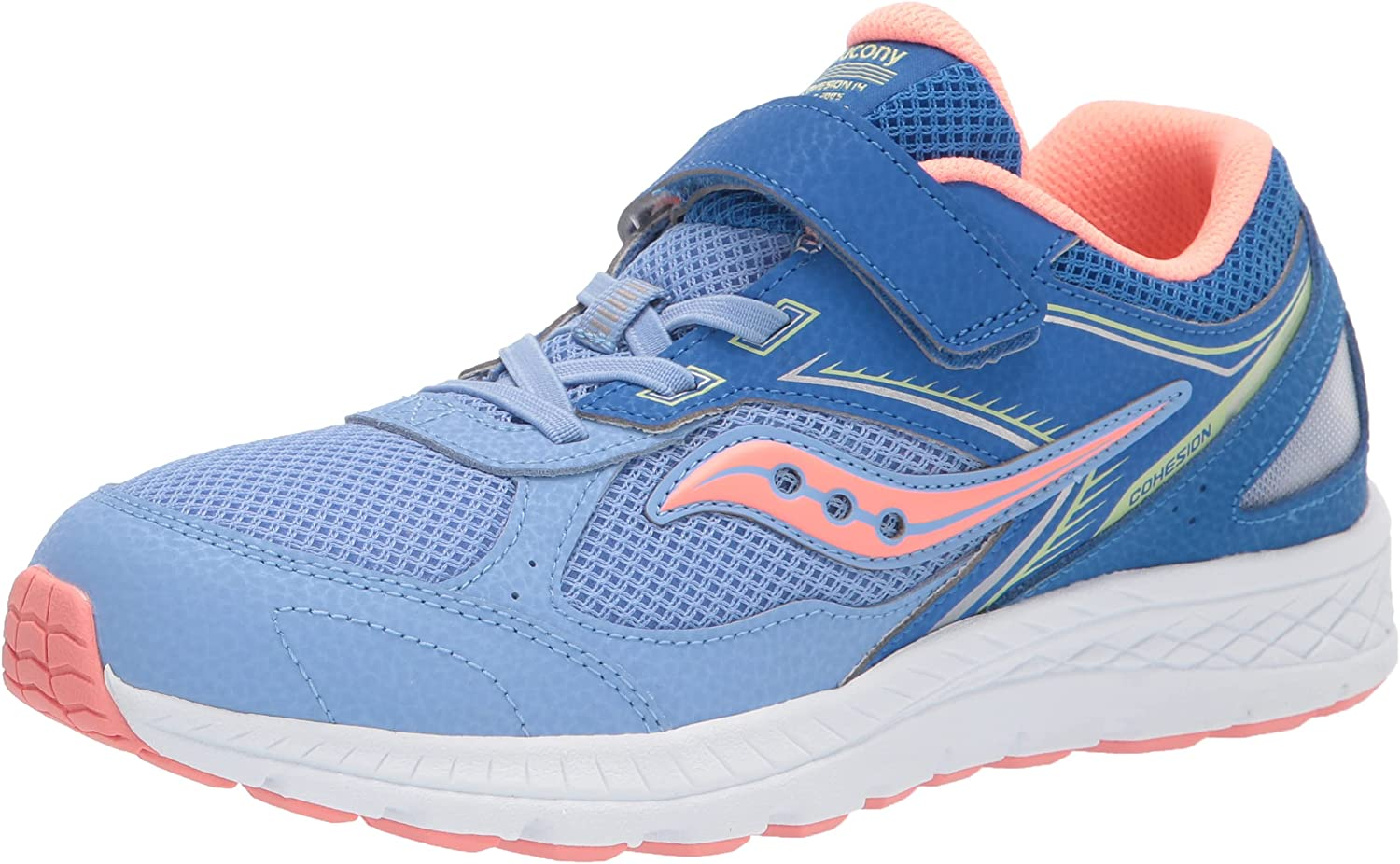Max 58% OFF Saucony Cohesion 14 Alternative Max 76% OFF Closure Blue Running Shoe Coral