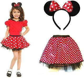 Femme Femmes Minnie Mouse Costume Déguisement Semaine Du Livre Jour Set Accessoire
