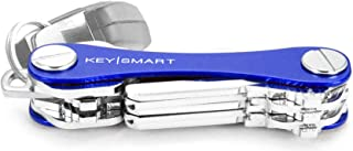 KeySmart Classic - Compact Key Holder and Keychain Organizer (up to 14 Keys, Blue)