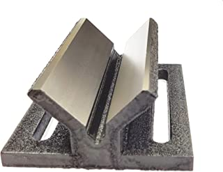 Caste Iron V Block Jig Fixture for Center Drilling on a Round Work-piece 2
