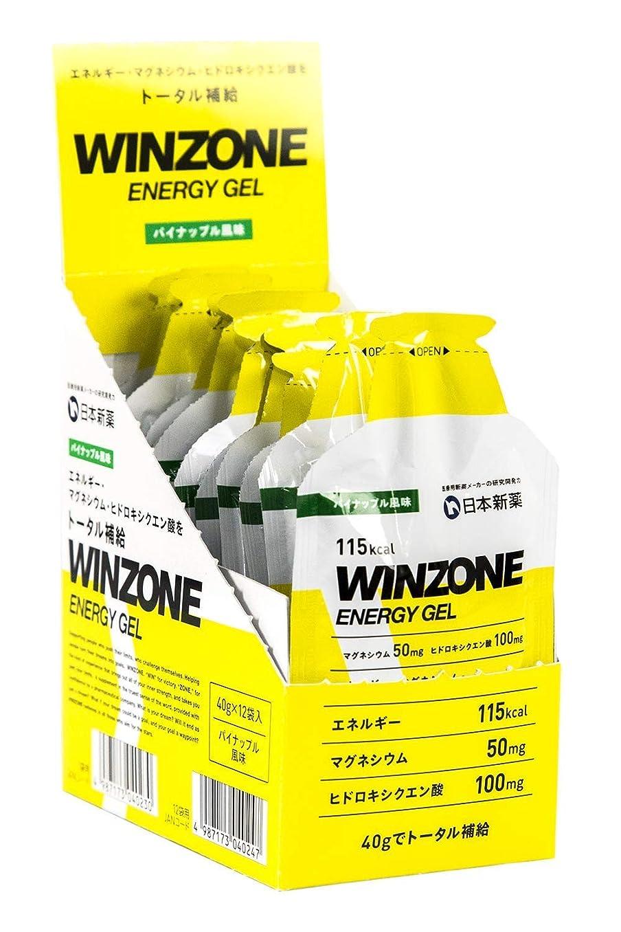 チート引用サリーWINZONE ENERGY GEL (パイナップル風味, 12袋)