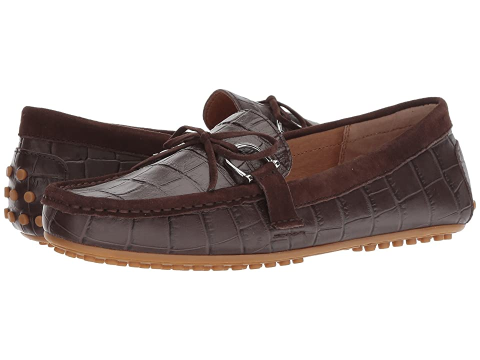 LAUREN Ralph Lauren Briley Moccasin Loafer (Dark Brown/Dark Brown Soft Croc/Suede) Women