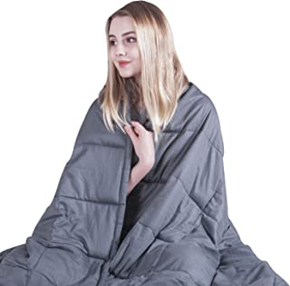 COMHO Weighted Blanket Cooling Cotton Heavy Blanket 20 lbs,60''x80'',Queen Size