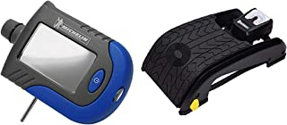 Michelin 12206 Analogue Double Barrel Foot Pump (Black) with MN-4203 Digital Tyre Gauge (Blue) Combo