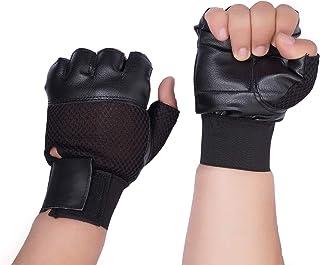 Dee Mannequin 786 Leather Gym Gloves (Black)