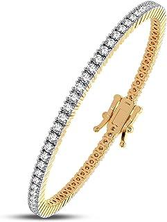 Femme Luxe Sara Diamond Tennis Bracelet for Women (4.00 Carats, G-H Color, I2 Clarity), 14K Gold Bracelets