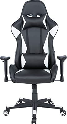 AmazonBasics Gaming Chair - Racing Style Seat with Headrest and Firm Lumbar Support, Easy Assembly
