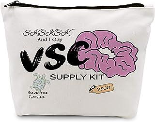 Ihopes Vsco Girl Stuff Vsco Cotton Makeup Zipper Pouch Bag   Vsco Cosmetic Travel Accessories Bag Make-Up Toiletry Case Pe...