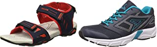 Power Men's Athletic & Outdoor Sandals + Aero Running Shoes (Size UK 8)