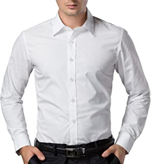 """ZAKOD Full Sleeve Slim Fit Plain Formal Shirts for Men100% Cotton Shirts, Office wear,Colour and Size Choose According 6 Colour Available M=38"""",L=40"""",XL=42"""""""