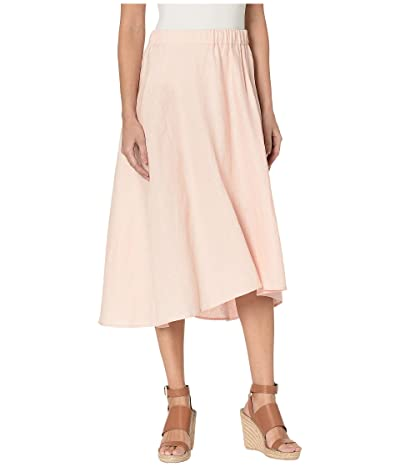 Three Dots Classic Linen Pull-On Skirt (Carnation) Women