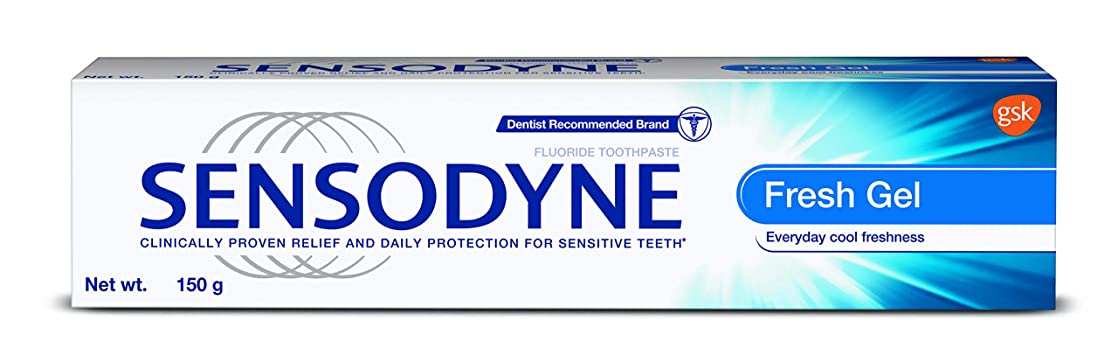 路面電車シャッフル上下するSensodyne Sensitive Toothpaste - Fresh Gel 130gm