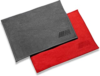 Sonaodm 3M Sport Coral Velvet Towel Chamois Car Towel Cloth, 2 Pack for Car Cleaning(Grey+Red)