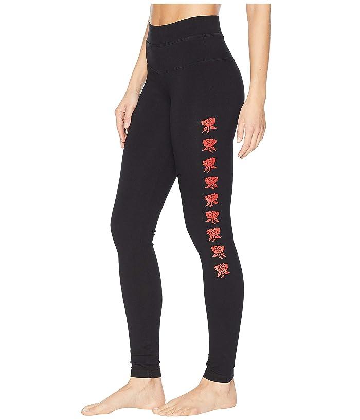 Hard Tail High-Waist Ankle Leggings (Black/Red) Women