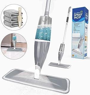 Spray Mop, Tencoz 640ml Fregona con Vaporizador Mopa Fregona con 3 La Almohadilla de Microfibra y 1 Rasqueta de Ducha, Mopa Spray Rotación de 360°