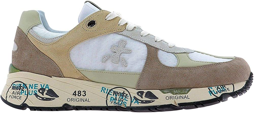 Premiata luxury fashion,sneakers per uomo,multicolor,in pelle scamosciata e tessuto MASE4552