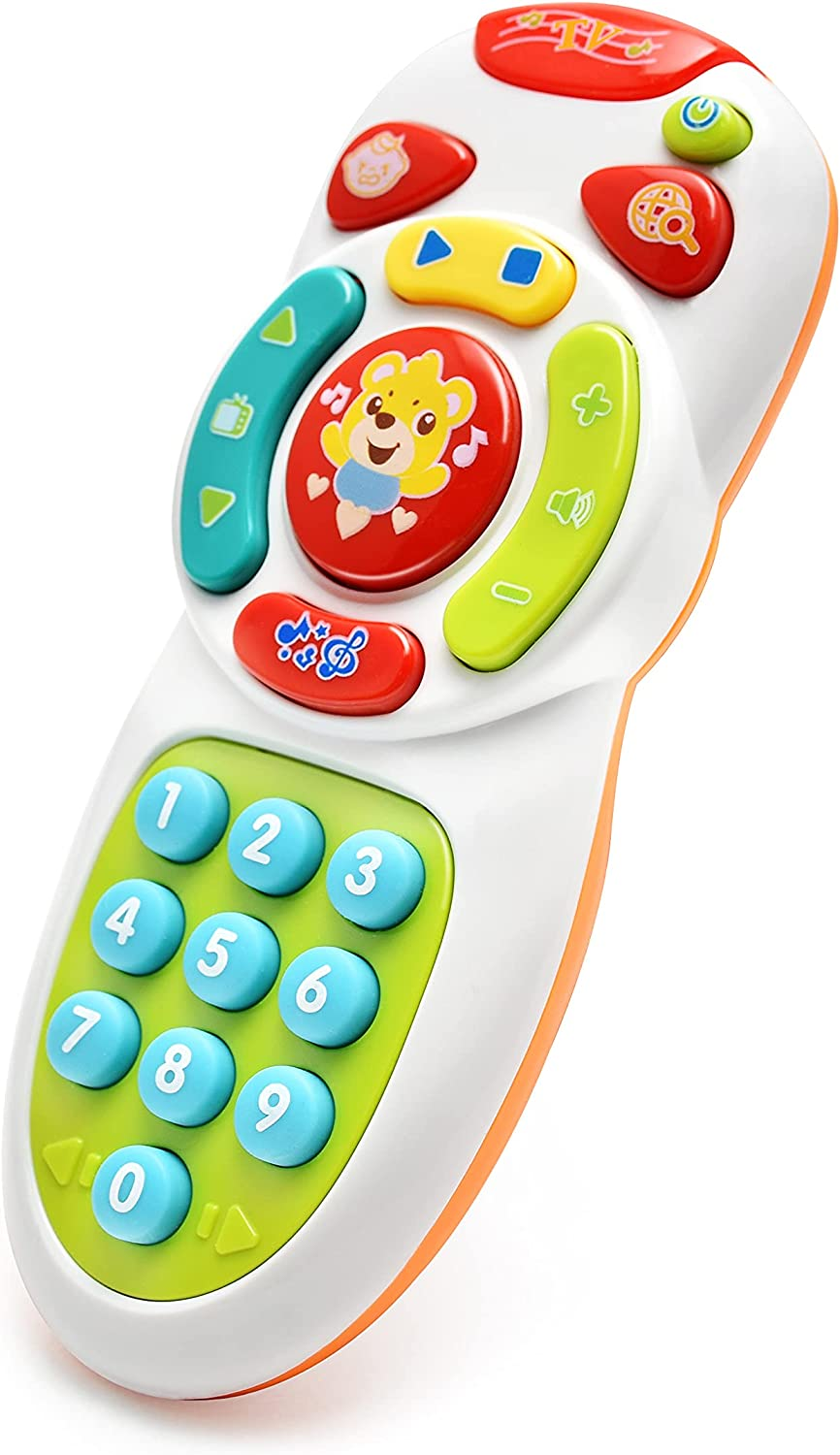 Tuko Musical TV Remote Control Toy with Light and Sound, Early Education Learning Remote Toy for 6 Months+ Toddlers Boys or Girls