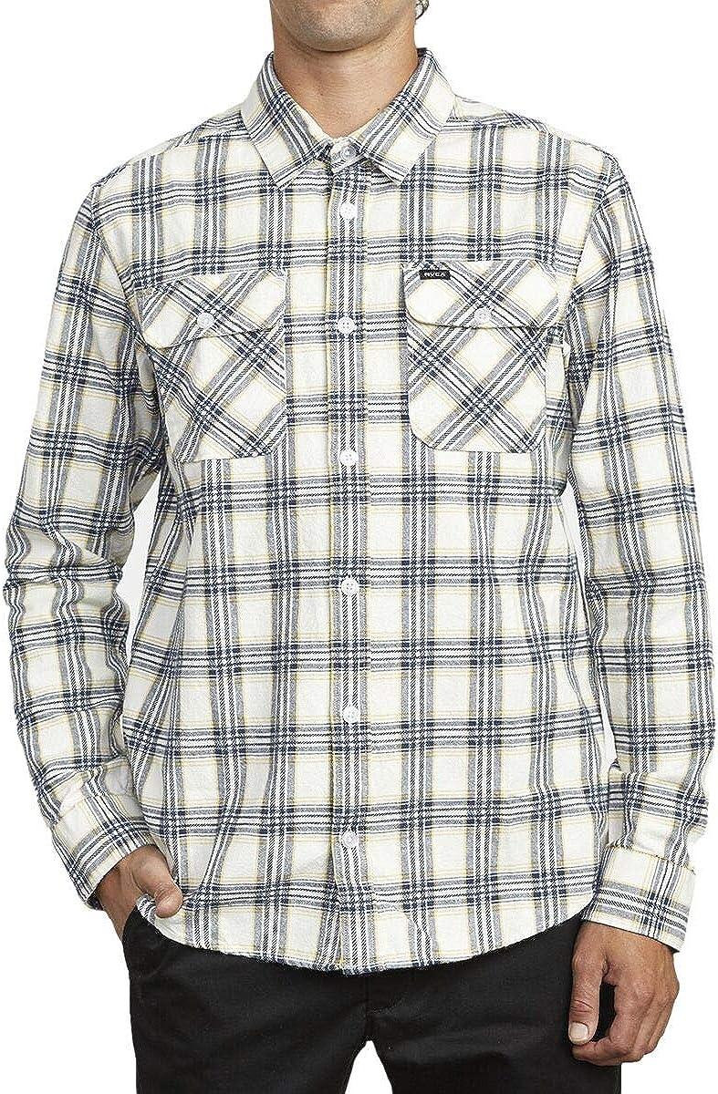 RVCA Men's Thatll Work Flannel Long Sleeve Woven Shirt