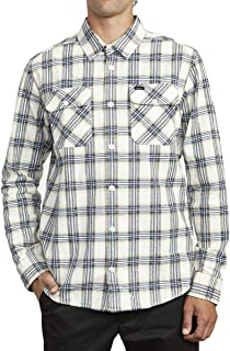 RVCA Men's Thatll Work Flannel Long Sleeve Woven Shirt