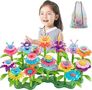 Bu-buildup BBU.01.002 Flower Building Toys, Garden Building Block, Pretend Gardening Toy, Creative Play Toy, 98 PCS Early ...
