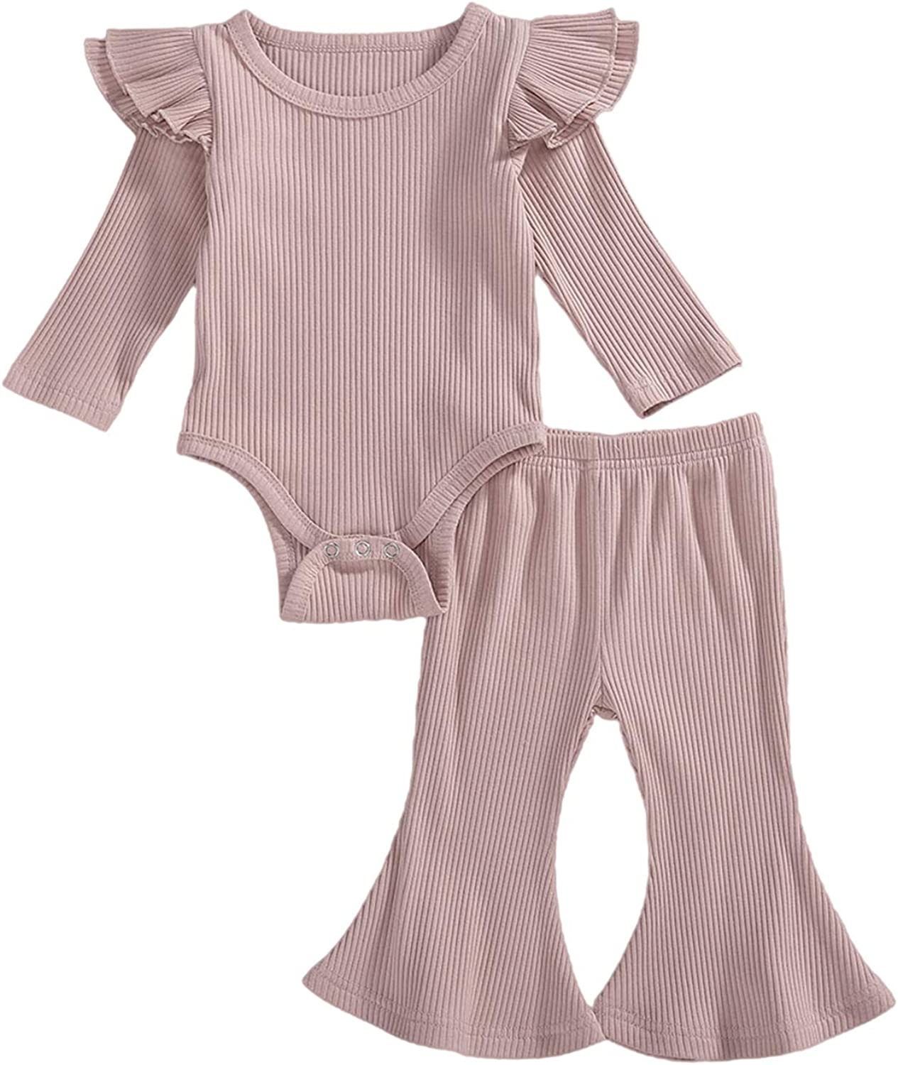 Time sale Fall Winter Newborn Baby Girl Clothes Ribbed Bodys Ranking integrated 1st place Solid Rompers