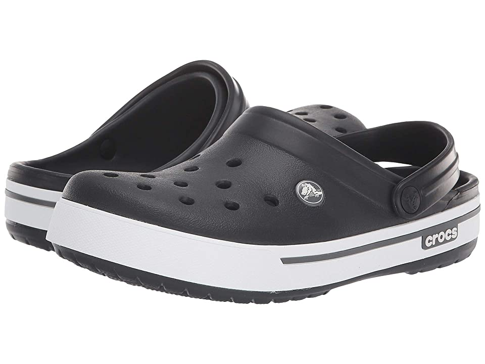 Crocs Crocband II.5 Clog (Black/Charcoal) Clog Shoes