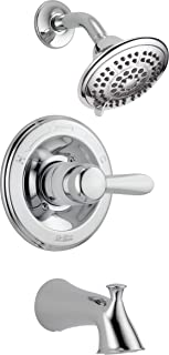Delta Faucet Lahara 14 Series Single-Handle Tub and Shower Trim Kit, Shower Faucet with 5-Spray Touch-Clean Shower Head, C...