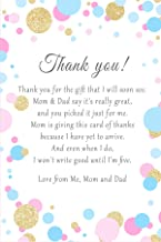30 Personalized Thank You Cards Confetti Baby Shower Girl Boy Photo Paper