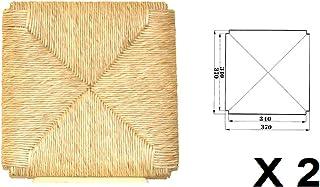 Asientos de repuesto para silla de paja, modelo Sigfrido, 2 unidades