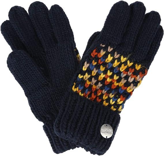Regatta Mens Balton Ii Acrylic Knit Striped Wrist Gloves Gloves