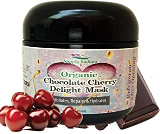 Organic Chocolate Cherry Facial Mask 2 oz – For Deep Cleansing & Exfoliation - Brightening Face Mask Evens Tone and Provides Deep Moisturization For Firm, Radiant Skin – Glimmer Goddess