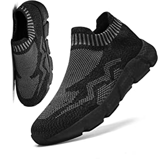 FUJEAK Women's Road Running Shoes Slip On Breathable Mesh Walking Shoes Women Fashion Sneakers Comfortable Sock Shoes